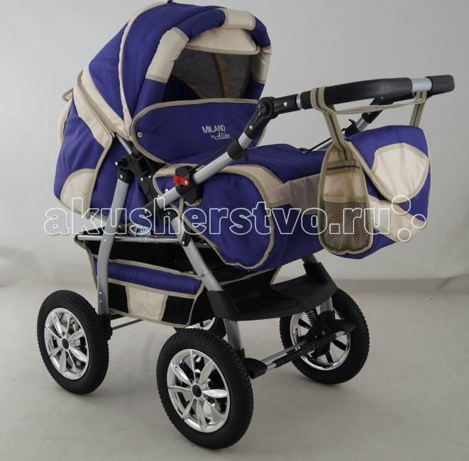 Коляска-трансформер Aliko MilanoMilanoКоляска-трансформер Aliko Milano - вы сможете катать в таком транспорте не только новорожденного малыша, но и детишек постарше вплоть до 3 лет. Такая удобная функция как перекидная ручка позволит Вам катать маленького непоседу, как по ходу, так и против хода движения.  Мягкая амортизация, большие надувные колеса и облегченная рама делают коляску не только функциональной, но и максимально надежной.  Просторное спальное место и утепленная обивка дает возможность кататься малышам с комфортом не только тёплым летом, но и суровой снежной зимой.   Особенности: • Новый усиленный каркас • Подвеска на пружинах • Перекидная ручка позволяет возить ребёнка как лицом вперёд, так и назад • Съемная люлька (спальный мешок), окаймленная мягким хлопком, который не вредит ребёнку • Удобные и мощные тормоза • Большая корзина для Ваших покупок • Большие, надувные, резиновые колеса на подшипниках • Удобный дождевик на всю коляску • Прикреплённая к ручке сумка • Удобный карман на тыльной стороне коляски • Съемная задняя часть коляски • Четыре позиции регулируемой спинки прогулочной коляски • Регулируемая подножка • Пятиточечные ремни безопасности для удобства использования • Удобный и мягкий барьер в виде лотка • Вся обивка может быть снята и легко постирана  Комплектация: • переноска для младенца • накидка на ножки • сумка для мамы • дождевик  Спальное место: (Д/Ш) 85/36 см. Ширина колесной базы: 61 см. Вес: 16 кг.<br>