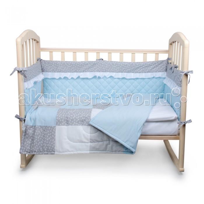 Комплект в кроватку Alis Пэчворк (5 предметов)Пэчворк (5 предметов)Комплект в кроватку Alis Пэчворк (5 предметов) засыпая в кроватке, застеленной нежным, красивым и стильным комплектом белья, малыш погрузится в самые сладкие сказочные сны. Комплект рассчитан специально для малышей. Материал отличается необыкновенной мягкостью и шелковистой фактурой. Прочная и плотная ткань с диагональным переплетением хлопковой нити. Несмотря на повышенную плотность, этот материал отличается необыкновенной мягкостью и шелковистой фактурой.   В комплект входят: наволочка 40 х 60 см подушка 40 х 60 см одеяло 110 х 140 см простынь 100 х 150 см  бортик.<br>