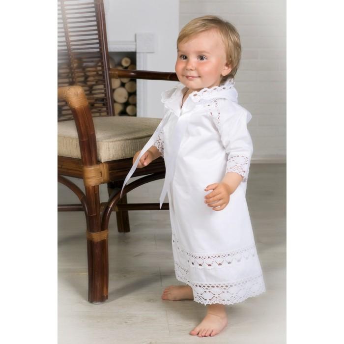 Детская одежда , Крестильная одежда Alivia Kids Крестильная рубашка Ажурный хлопок 18.003.10 арт: 341785 -  Крестильная одежда