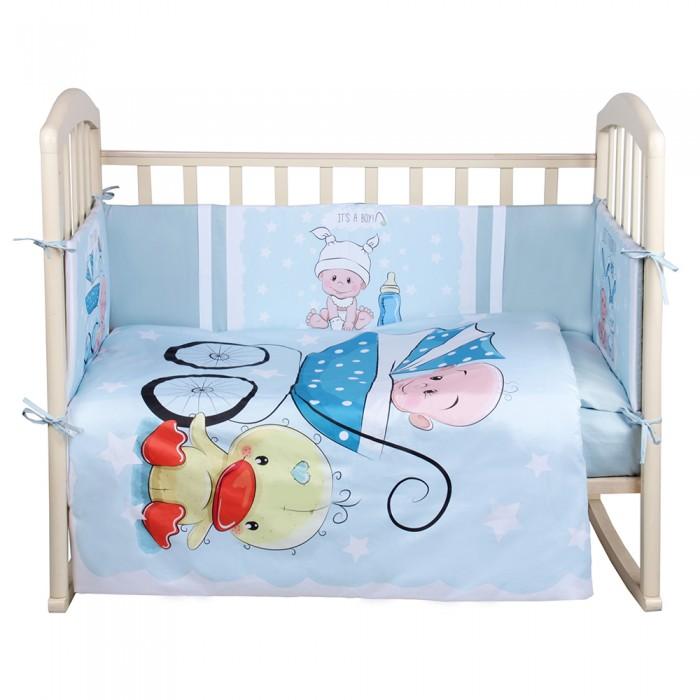 Комплект в кроватку Альма-Няня Детская история Мальчик (6 предметов)