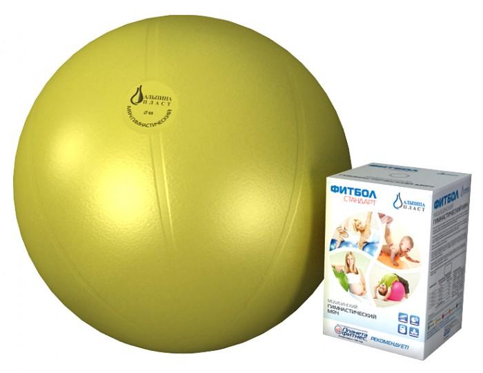 Мячи Альпина Пласт Мяч гимнастический фитбол Стандарт 65 см гимнастический шар 65 см