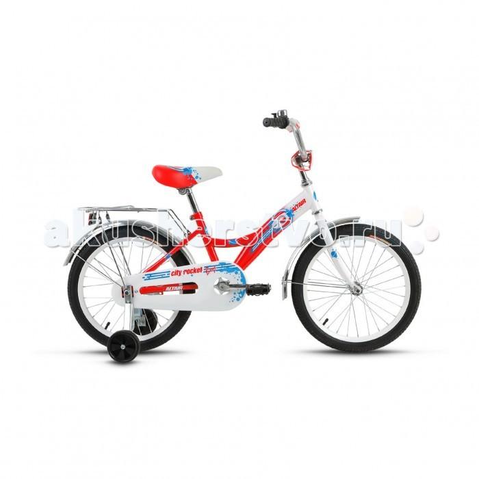Двухколесные велосипеды Altair City Boy 18 (2017) altair city boy 18 2017 white blue
