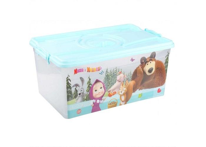 Ящики для игрушек Альтернатива (Башпласт) Контейнер Маша и Медведь 40 л