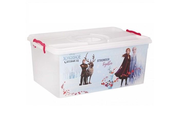 Ящики для игрушек Альтернатива (Башпласт) Контейнер с крышкой Холодное сердце 2 40 л ящики для игрушек альтернатива башпласт контейнер холодное сердце 2 50 л