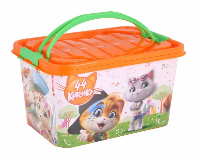 Ящики для игрушек Альтернатива (Башпласт) Контейнер с ручками 44 Котёнка прямоугольный 15 л