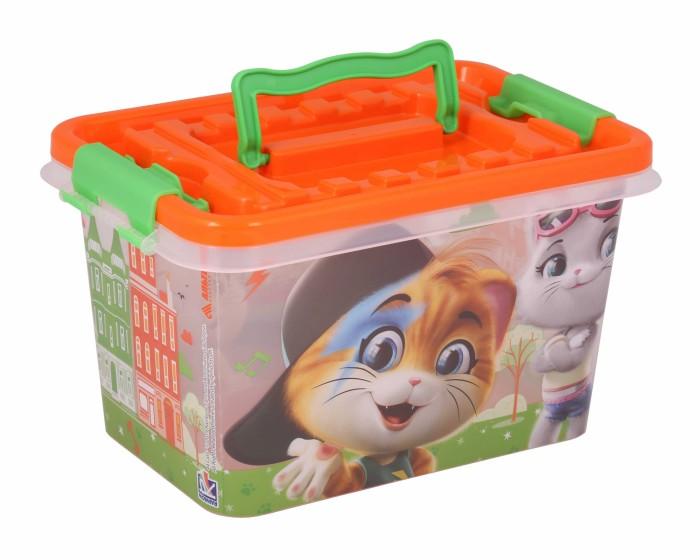 Ящики для игрушек Альтернатива (Башпласт) Контейнер с ручками 44 Котёнка прямоугольный 4 л ящики для игрушек альтернатива башпласт контейнер доктор прямоугольный 7 л