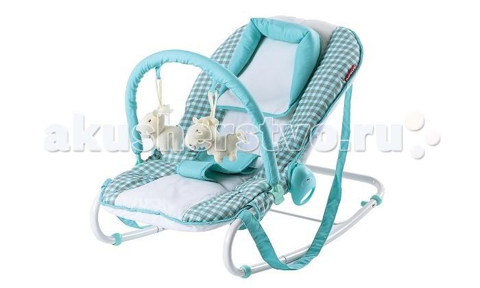 Amalfy Шезлонг НB-8023Шезлонг НB-8023Amalfy  Шезлонг НB-8023 предназначен для детей с рождения до 6-ти месяцев (примерно до 9 кг)  Три положения спинки позволят ребенку спокойно отдыхать в горизонтальном положении и бодрствовать в двух полусидящих положениях.   Шезлонг отлично успокоит и укачает малыша, а благодаря четырем фиксаторам опоры, шезлонг можно зафиксировать в устойчивом горизонтальном положении.   Для спокойствия родителей у шезлонга есть трехточечные ремни безопасности, которые надежно зафиксируют ребенка в шезлонге.  Особенности:  Удобные ручки для переноски 3 положения наклона спинки (включая горизонтальное) Подголовник для новорожденных 3-х точечные ремни безопасности Съемная дуга с подвесными игрушками Стопоры-ограничители для остановки качания  Вес шезлонга 3,6 кг Размер шезлонга 42х64х57 см Размер упаковки 44х12х50 см<br>