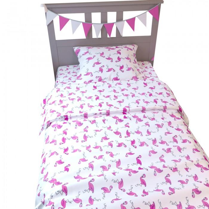 Постельное белье AmaroBaby 1.5 спальное Time to Sleep Фламинго (3 предмета)