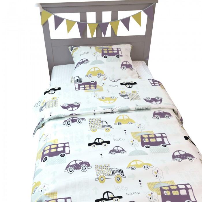Купить Постельное белье 1.5-спальное, Постельное белье AmaroBaby 1.5 спальное Time to Sleep Город (3 предмета)