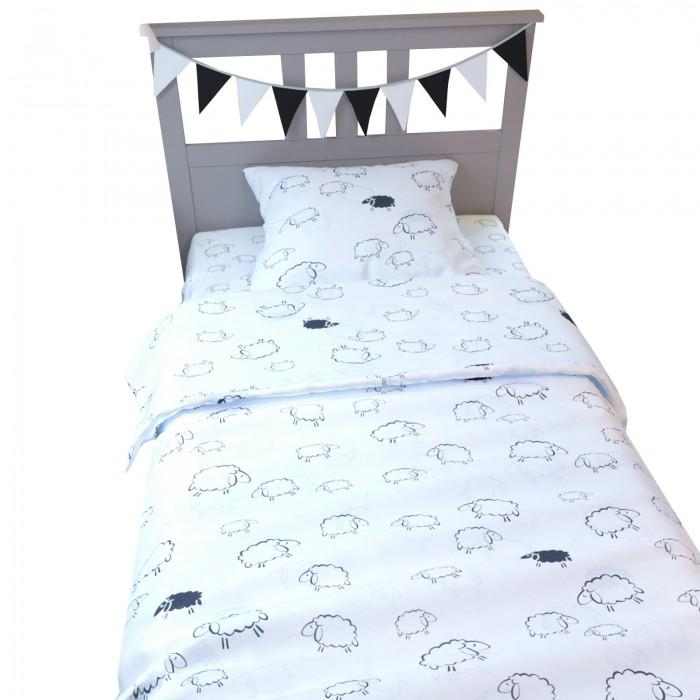 Купить Постельное белье 1.5-спальное, Постельное белье AmaroBaby 1.5 спальное Time to Sleep Овечки (3 предмета)