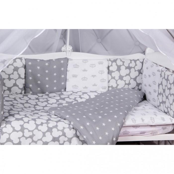 Бортики в кроватку AmaroBaby Silver 12 подушек, Бортики в кроватку - артикул:512626