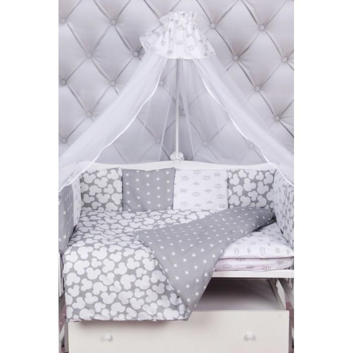 Комплекты в кроватку AmaroBaby Silver (15 предметов), Комплекты в кроватку - артикул:512681