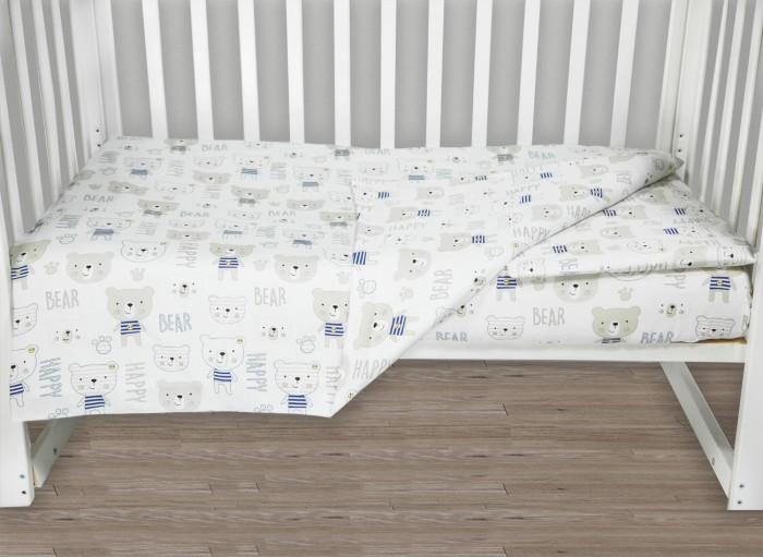 Фото - Постельное белье AmaroBaby Baby Boom Мишка в тельняшке (3 предмета) amarobaby комплект в кроватку baby boom короны 3 предмета серый