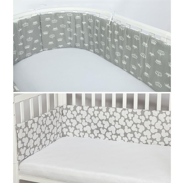 Бортики в кроватку AmaroBaby двухсторонний Мышонок (4 подушки)
