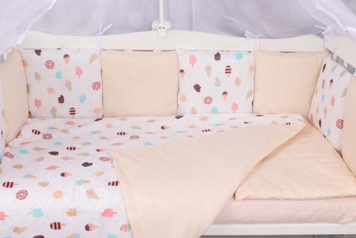 Бортики в кроватку AmaroBaby Эскимо 12 подушек