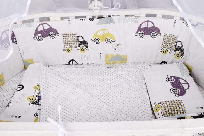 Комплект в кроватку AmaroBaby Город (4 предмета) фото