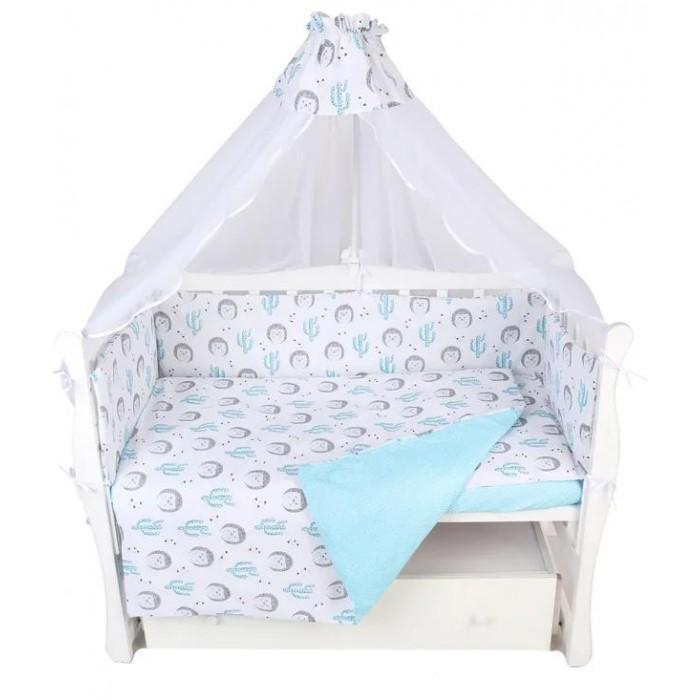 Купить Комплекты в кроватку, Комплект в кроватку AmaroBaby Ёжики (7 предметов)