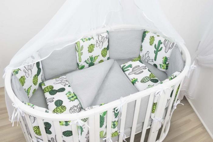 бортики в кроватку Бортики в кроватку AmaroBaby Кактусы 12 подушек