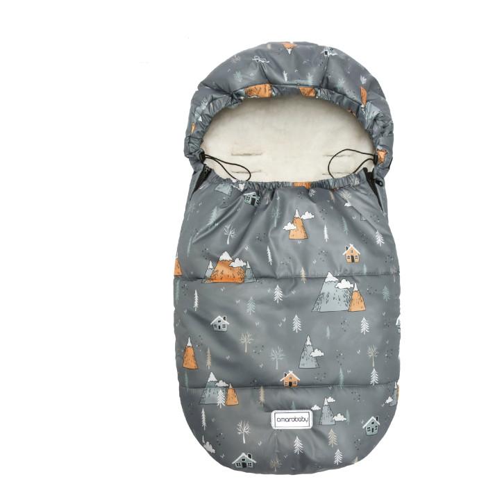 Купить Конверты для новорожденных, AmaroBaby Конверт зимний меховой Snowy Baby Горы 85х50 см