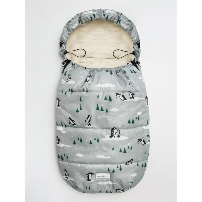 AmaroBaby Конверт зимний меховой Snowy Travel Горы 105 см