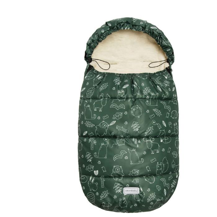 Купить Конверты для новорожденных, AmaroBaby Конверт зимний меховой Snowy Travel Зверята 105 см