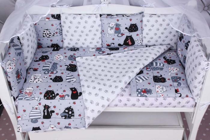 Бортики в кроватку AmaroBaby Котики 12 подушек