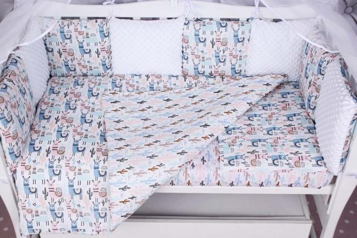Бортики в кроватку AmaroBaby Ламы 12 подушек