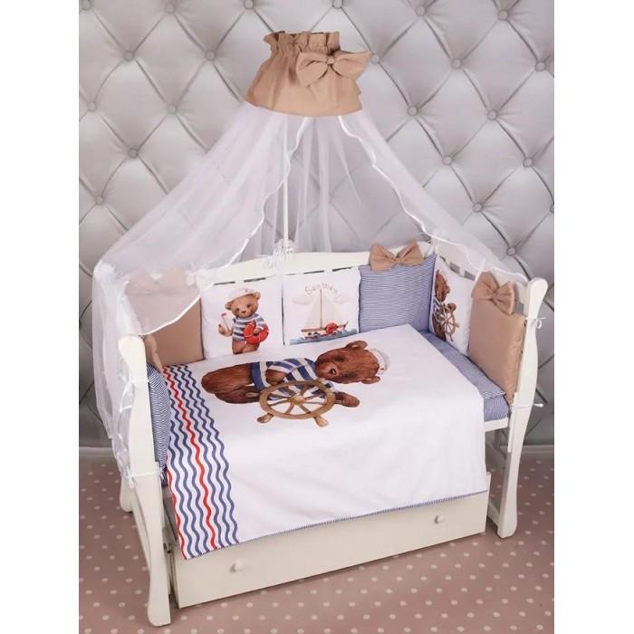 Комплект в кроватку AmaroBaby Lux Капитан (18 предметов)