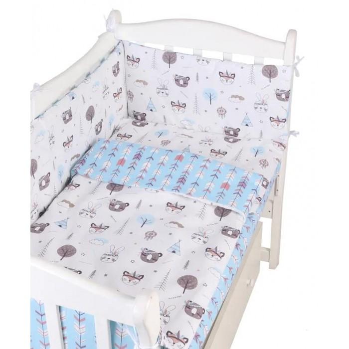 Бортик в кроватку AmaroBaby на молнии Маленький принц (4 подушки)