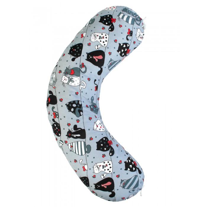 Наволочки AmaroBaby Наволочка к подушке для беременных Бумеранг Котики 170х25 см