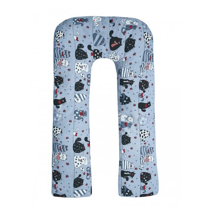 Наволочки AmaroBaby Наволочка к подушке для беременных U-образная Котики 340х35 см