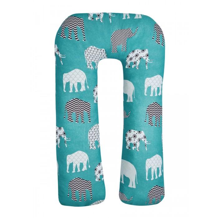 Наволочки AmaroBaby Наволочка к подушке для беременных U-образная Слоники 340х35 см