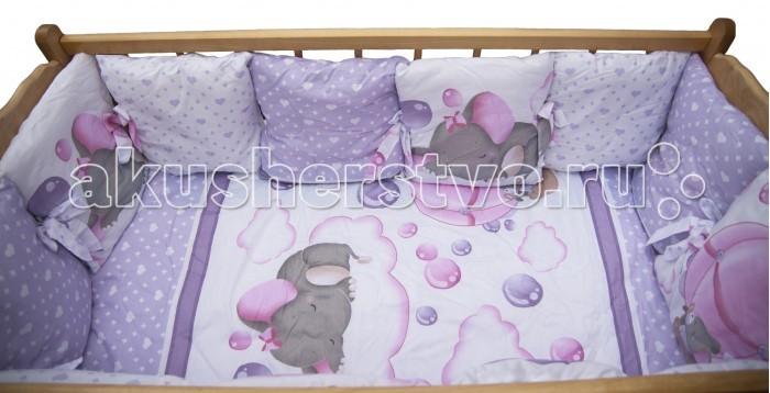 Постельные принадлежности , Комплекты в кроватку AmaroBaby Нежность (7 предметов) арт: 365868 -  Комплекты в кроватку
