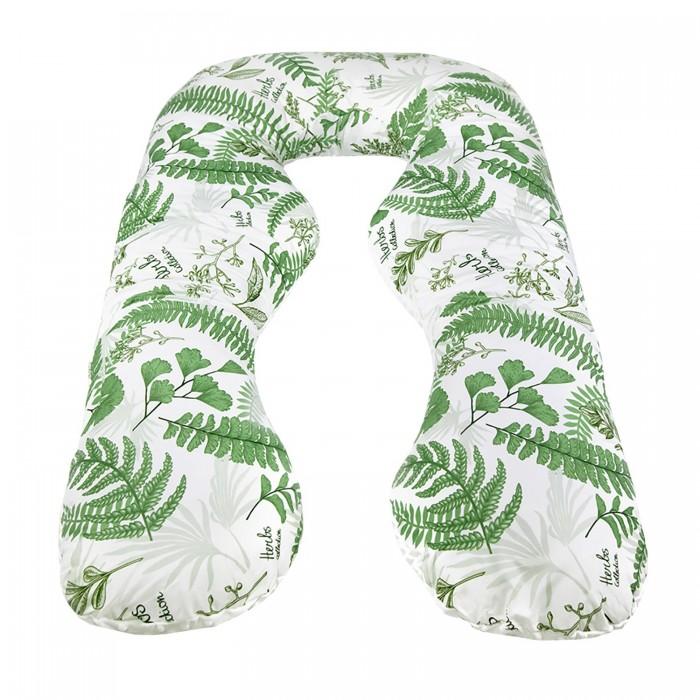 Купить Подушки для беременных, AmaroBaby Подушка для беременных Exclusive Soft Collection Папоротники 340х72 см