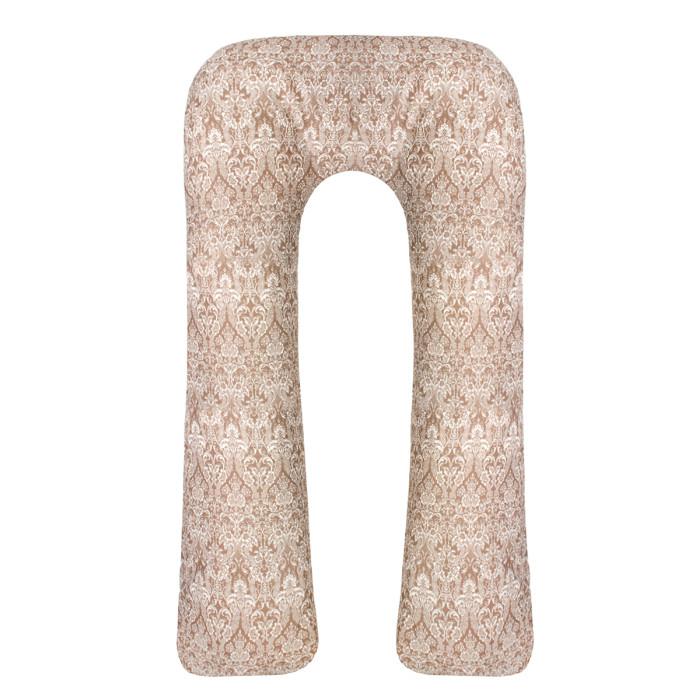 Постельные принадлежности , Подушки для беременных AmaroBaby Подушка для беременных U-образная Дамаск 340х35 см арт: 539136 -  Подушки для беременных