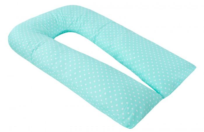 Постельные принадлежности , Подушки для беременных AmaroBaby Подушка для беременных U-образная Сердечки 340х35 см арт: 539166 -  Подушки для беременных