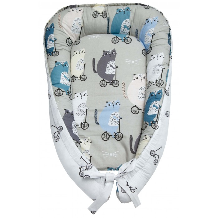 позиционеры для сна amarobaby подушка позиционер для сна little baby мышата в облаках Позиционеры для сна AmaroBaby Подушка-позиционер для сна Little Baby Велосипедисты