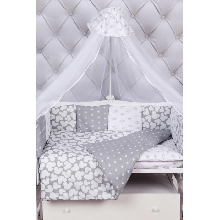 Комплект в кроватку AmaroBaby Premium Silver (18 предметов)