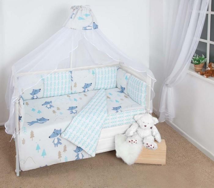 Комплект в кроватку AmaroBaby Premium В лесу (19 предметов)
