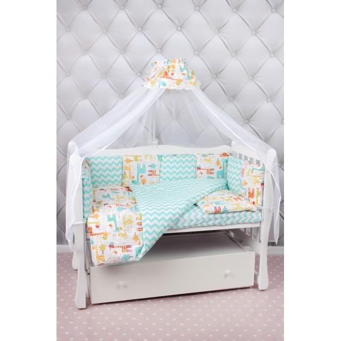 Комплект в кроватку AmaroBaby Premium Жирафики (19 предметов)