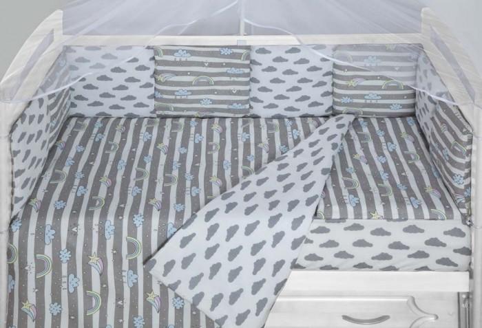Бортики в кроватку AmaroBaby Радуга 12 подушек