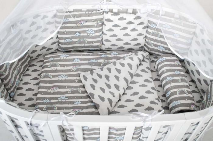 Комплект в кроватку AmaroBaby Радуга (15 предметов)