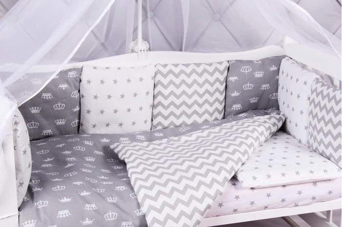 Купить Бортики в кроватку, Бортик в кроватку AmaroBaby Royal Baby 12 подушек