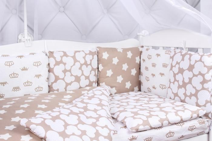 Бортики в кроватку AmaroBaby Soft 12 подушек