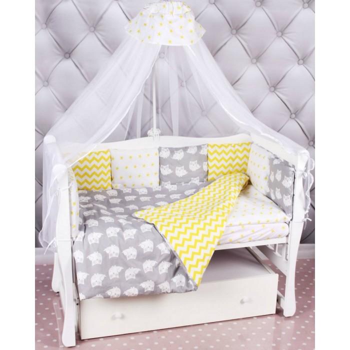 Комплекты в кроватку AmaroBaby Совята Premium (18 предметов) комплект в кроватку amarobaby 15 предметов 3 12 подушек бортиков совята бязь желтый серый