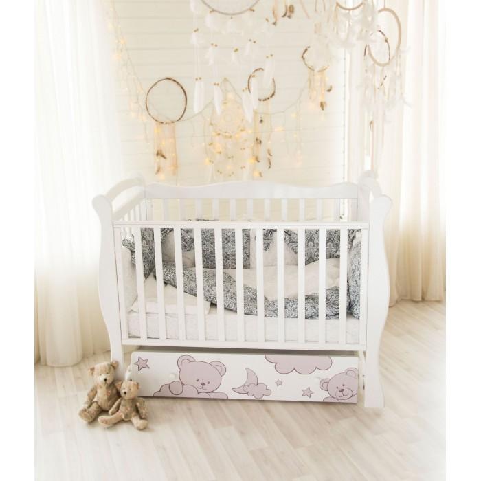 Детские кроватки AmaroBaby Sweet Bear маятник поперечный, Детские кроватки - артикул:595789