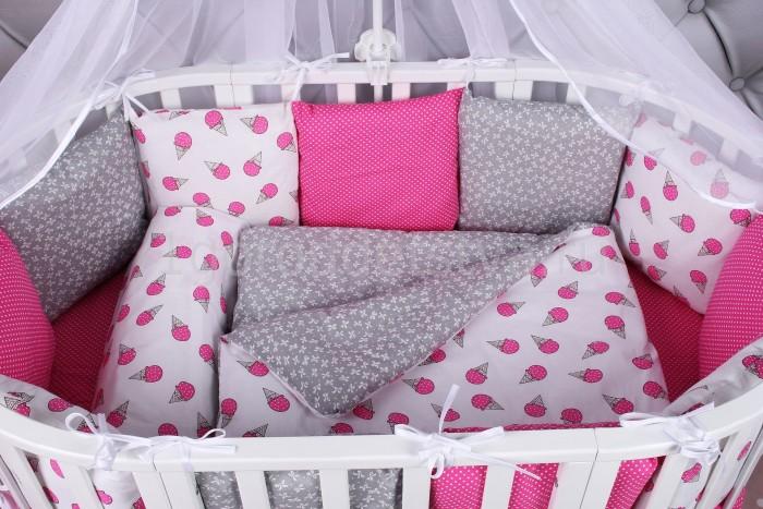 Бортики в кроватку AmaroBaby Sweet 12 подушек