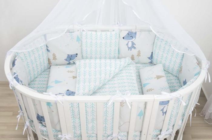 Купить Бортики в кроватку, Бортик в кроватку AmaroBaby В лесу 12 подушек