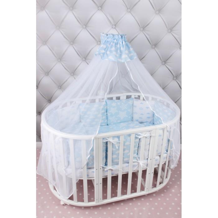 Комплект в кроватку AmaroBaby Воздушный (19 предметов)