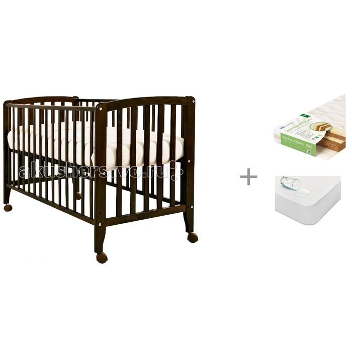Купить Детские кроватки, Детская кроватка Angela Bella Бьянка с матрасом Плитекс Bamboo Nature и наматрасником Sweet Baby SB-K013